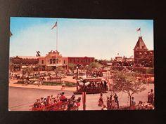 Vintage Main Street U.S.A. Postcard - Town Square RARE 1955 by VintageDisneyana on Etsy