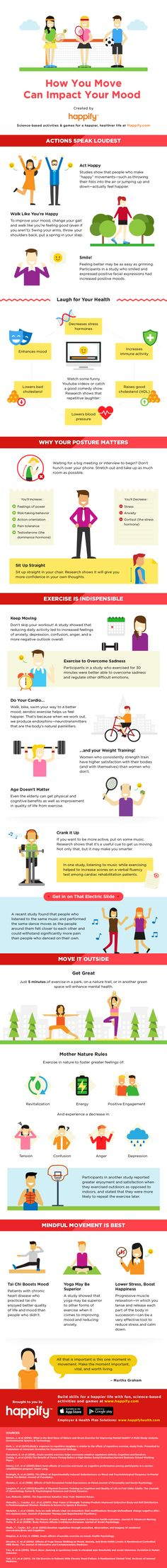 Happiness is a choice, starting with the way you move. Here's the science behind how exercise affects your outlook, and why you need to get moving to stay grooving.