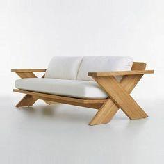 Sofa Design, Furniture Design, Design Design, Interior Design, Diy Outdoor Furniture, Pallet Furniture, Woodworking Furniture, Woodworking Projects, Woodworking Organization
