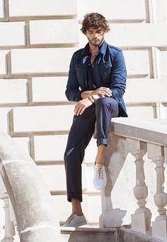 Brazilian model Fellow, Marlon Teixeira Massimo Dutti - Spring/Summer 2016