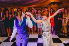 Red Head Bride And Dashing Groom Have Their First Dance At The New Wedding Venue Tanfield