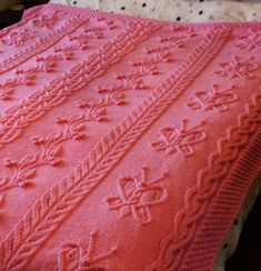 Free Knitting Pattern Butterfly Cabled Afghan