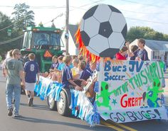 Image result for homecoming soccer float