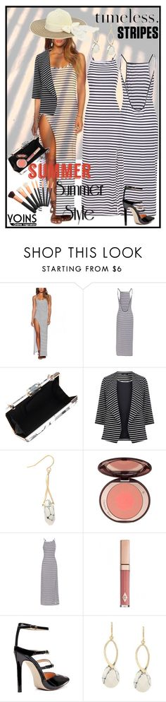 """""""Summer Light, Cool Stripes"""" by classicfem ❤ liked on Polyvore featuring Evans, Armani Privé, yoins and yoinscollection"""