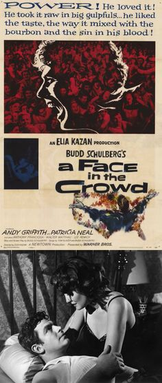 A Face in the Crowd (1957) starring Andy Griffith & Patricia Neal