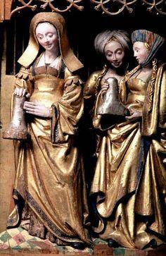 retable d'Uppland, Vaksala. aujd'h. au Musée historique d'Etat, Stockholm (inv.nr. 25196). Figurines de la prédelle - bruxelloises ?