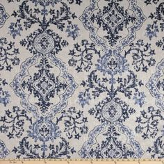 Magnolia Home Fashions Avalon Duck Sky Floral Curtains, Cafe Curtains, Custom Curtains, Blue And White Fabric, White Fabrics, Balloon Valance, Curtain Rings With Clips, Magnolia Homes, Home Decor Fabric
