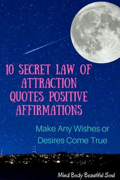 10 Secrets Law of Attraction Quotes Positive Affirmations to help you in daily life for strength, positivity, motivation, and happiness. of attraction Secret Law Of Attraction, Law Of Attraction Quotes, Positive Affirmations, Positive Quotes, Mindfulness Exercises, Levels Of Understanding, Think Happy Thoughts, Find Quotes, Meaningful Life