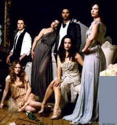Aidan Turner and some of the Desperate Romantics cast