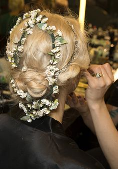 Backstage du defile Dolce & Gabbana 2014.
