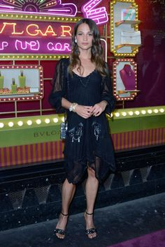 Alicia Vikander in Louis Vuitton at Bulgaris Pop-Up Store Event: IN or OUT?