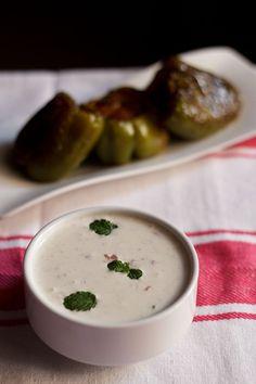 onion raita - simple, quick and cooling raita to accompany pulao, biryani, khichdi or roti-sabzi.