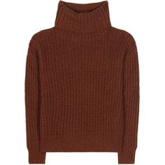 Loro Piana Davenport Cashmere Turtleneck Sweater ($1,445) ❤ liked on Polyvore featuring tops, sweaters, brown, wool cashmere sweater, brown cashmere sweater, turtle neck top, brown turtleneck and cashmere tops