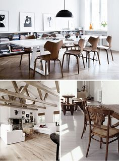 white and wood