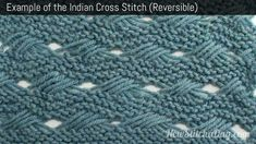Example of the Indian Cross-Stitch Pattern (Reversible)