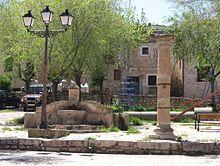 Picota en la plaza de Palazuelos, Guadalajara.