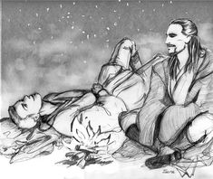Obi-Wan and Qui-Gon by Marie-Robin.deviantart.com on @DeviantArt