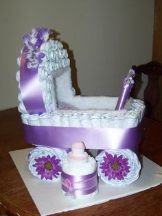diaper cake baby buggy