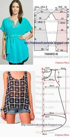 Best 10 Pin by paty vizcaino on trazos para aprender Dress Sewing Patterns, Blouse Patterns, Sewing Patterns Free, Clothing Patterns, Blouse Designs, Fashion Sewing, Diy Fashion, Fashion Outfits, Moda Fashion