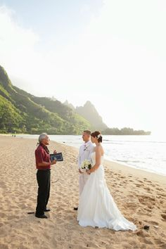 TUNNELS Beach wedding for two on Kauai Weddings coordinated by Weddings Kauai and photographed by http://www.gelston.com