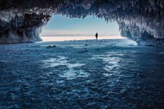 Who knew these fantastical ice caves could be found right in Wisconsin's Apostle Islands? Although the ice doesn't grow strong enough for sightseers…