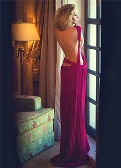 backless gown stunning