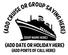 Custom Adult Cruise T-shirts by GreatDaneCompany on Etsy