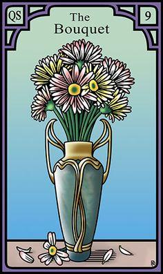 9 - The Bouquet - Burning Serpent Oracle par Robert M Place & Rachel Pollack