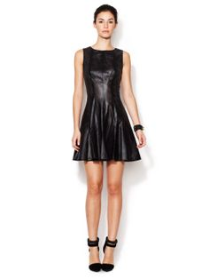 Dwight Faux-Leather Burn Out Dress by Jay Godfrey at Gilt