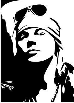 black and white vector Stencil Rosa, Rose Stencil, Stencil Art, Stencils, Tatuagem Guns N Roses, Arte Do Hip Hop, Pop Art, White Art, Black And White