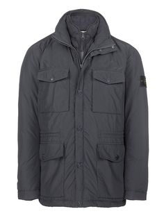 43426 MICRO REPS FIELD JACKET IN GREY - Stone Island