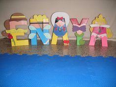 Disney Princess Character Letter Art