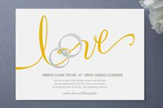 This invitation design is so elegantly simple and beautifully unique! Lovely Ribbon Wedding Invitations by http://minted.com/product/wedding-invitations/MIN-J60-INV/lovely-ribbon  Photo Credit: http://minted.com