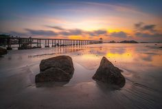 Parai Beach, Sunset Bangka Island, Sunset, Beach, Water, Outdoor, Paisajes, Gripe Water, Outdoors, Seaside