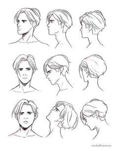 Guy Drawing, Drawing Practice, Manga Drawing, Drawing People, Drawing Male Hair, Gesture Drawing, Drawing Reference Poses, Drawing Poses, Drawing Ideas