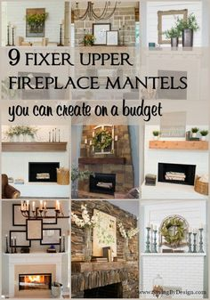 Fireplace Mantel Decor Ideas - Fixer Upper Mantel Decorating Ideas Seriously, is anyone else as addicted to Fixer Upper as me? Here are 9 Fixer Upper fireplace mantels you can create on a budget.which will you choose? Fixer Upper, Living Room Designs, Living Room Decor, Living Walls, Decor Room, Bedroom Decor, Wall Decor, Diy Décoration, Living Room Remodel