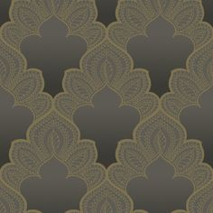 Today Interiors Gatsby Wallpaper - Design 13 - GA31205 ($125) ❤ liked on Polyvore featuring home, home decor, wallpaper, backgrounds, grey, plain grey wallpaper, gold home accessories, grey home decor, glitter wallpaper and grey pattern wallpaper