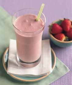 Strawberry banana smoothy - good for acid reflux... This sounds good.
