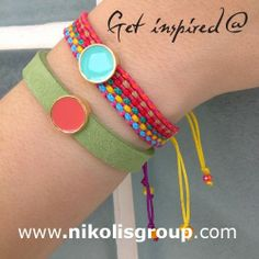 Simple happy summer bracelets!Coral or veraman??Choose the color you prefer for your summer creations and order it now!find all the materials @ www.nikolisgroup.com