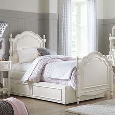 Rosenberry Rooms has everything imaginable for your child's room! Share the news and get $20 Off  your purchase! (*Minimum purchase required.) Harriette Summerset Low Poster Bed #rosenberryrooms