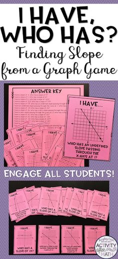 I am so excited about this new game! I wanted to engage all my students in an activity where they were finding the slope of a linear equatio...