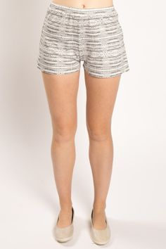 Organic Cotton Dots and Dashes Shorts - Miakoda New York: For warmer weather you'll definitely want these relaxed fit, organic cotton, elastic waistband printed shorts. Soft enough to wear lounging around and pretty enough to dress up for work or play, these eco-friendly shorts have a flattering cut and are Made in America.
