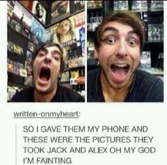 Jack Barakat & Alex Gaskarth of All Time Low<< am not surprised