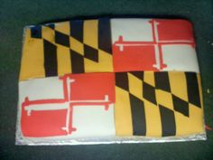 Maryland Flag cake for Maryland's 378th Birthday - 03/25/2012