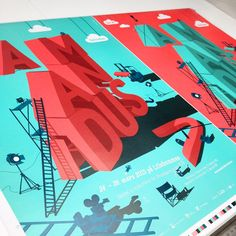 Last year it was this one … Amandus Poster #amandus #filmfestival #poster #lettering #illustration