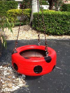 Red Spot Tire Swing from www.cooltireswings.com