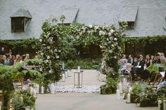 wedding ceremony setup - http://ruffledblog.com/modern-country-meets-secret-garden-wedding