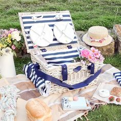 Hand woven Wicker and Straw Picnic hamper for six. Traditionally made to last a lifetime, and pass down to generations to come, Complete with cutlery and crockery for six.