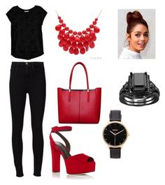"""Untitled #84"" by maidasabic12 ❤ liked on Polyvore featuring Frame Denim, Giuseppe Zanotti, Alexa Starr, Bobeau and Nixon"