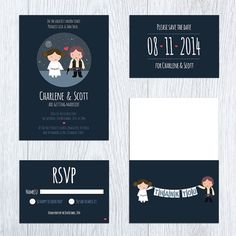 Star Wars Printable Wedding Invitation Save the Date RSVP